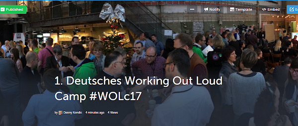 Das erste Deutsche Working out Loud Camp #wolc17